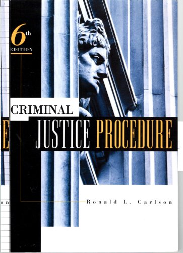 9780870842115: Criminal Justice Procedure