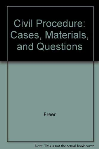 9780870842672: Civil Procedure: Cases, Materials, and Questions