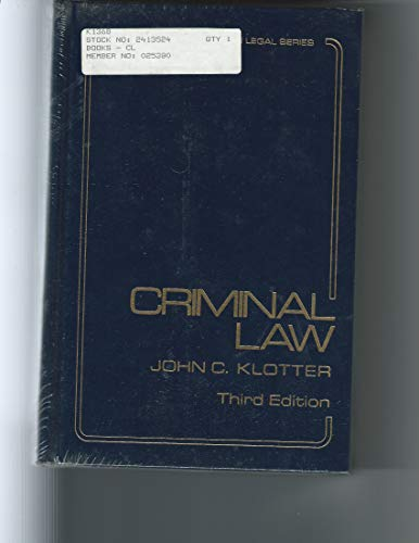 9780870845253: Criminal law (Justice administration legal series)