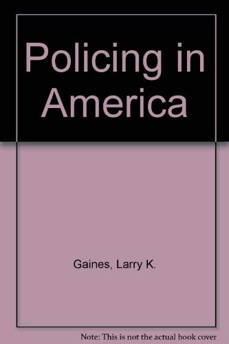 9780870847059: Policing In America