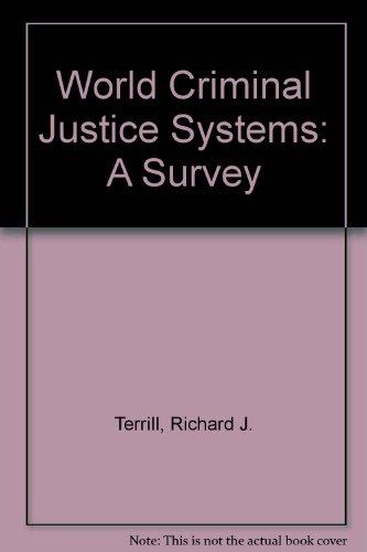 9780870849268: World Criminal Justice Systems: A Comparative Survey