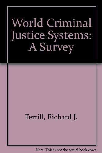 9780870849374: World Criminal Justice Systems: A Comparative Survey