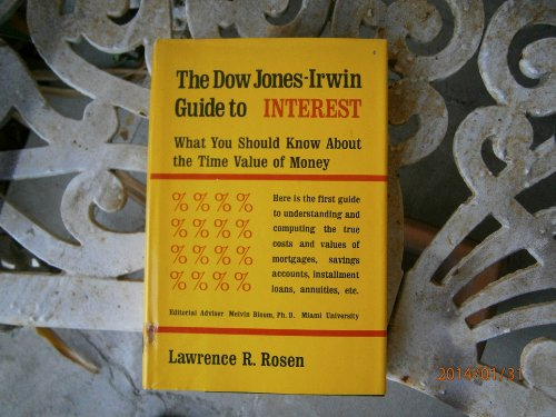 9780870940675: Dow Jones-Irwin guide to interest;: What you should know about the time value of money