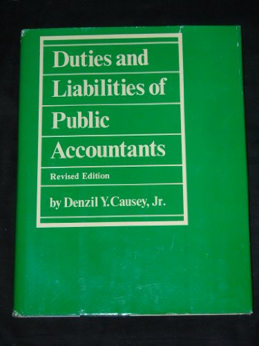 9780870943256: Duties and liabilities of public accountants
