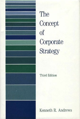 9780870949838: The Concept of Corporate Strategy
