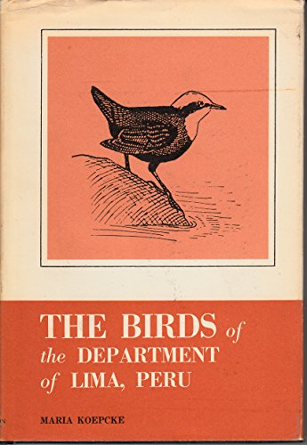 9780870980299: The Birds of the Department of Lima, Peru