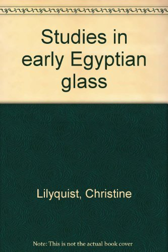 9780870996832: Studies in early Egyptian glass