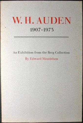9780871042644: W. H. Auden: 1907-1973