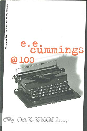 9780871044365: e. e. cummings @ 100: with a checklist of the exhibition