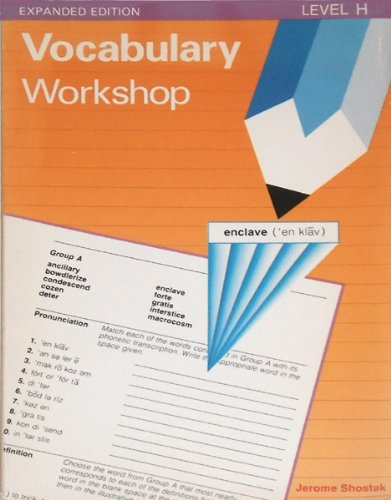 9780871051783: Vocabulary Workshop, Level H