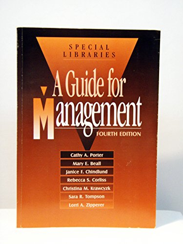 9780871114662: Special Libraries: A Guide for Management