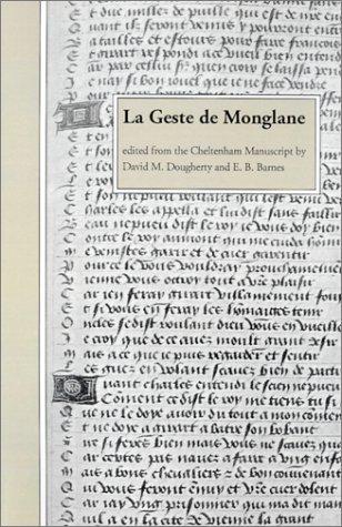 9780871140395: LA Geste De Monglane