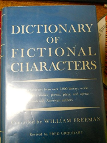 9780871160850: Dictionary of fictional characters