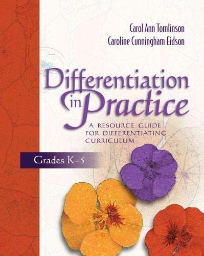 9780871207609: Differentiation in Practice, Grades K-5: A Resource Guide for Differentiating Curriculum
