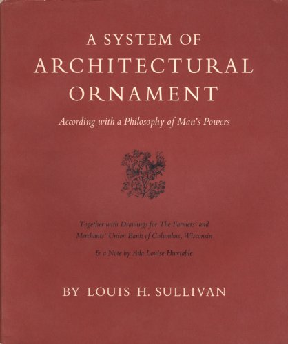 9780871300188: A System of Architectural Ornament