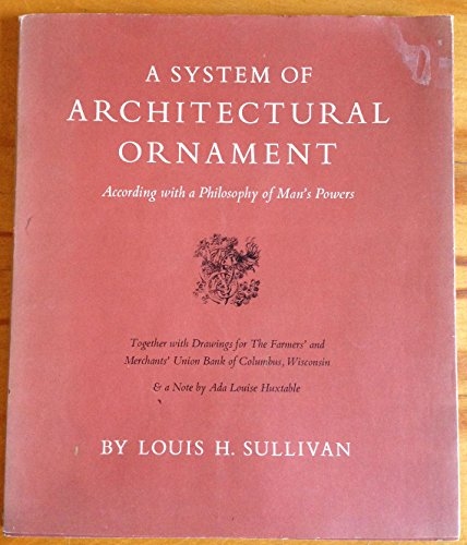 9780871300195: A System of Architectural Ornament