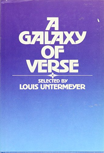 9780871312587: A Galaxy of Verse