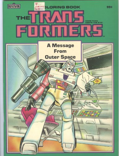 Transformers Coloring Book A Message From Outer Space