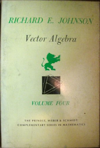 Vector algebra: Johnson, Richard E.