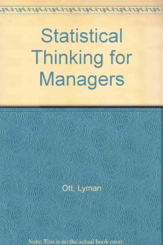 9780871500366: Statistical Thinking for Managers