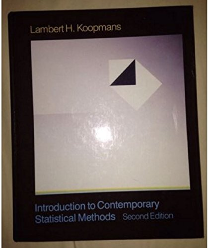 9780871500731: An Introduction to Contemporary Statistics