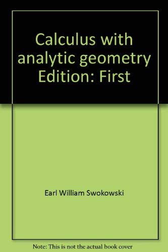 9780871501790: Calculus with analytic geometry