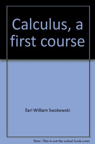 9780871502384: Calculus, a first course
