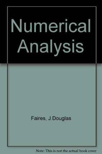 9780871502438: Numerical Analysis