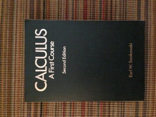 9780871502728: CALCULUS : A First Course