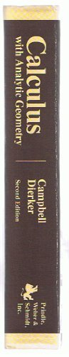 9780871503312: Calculus with Analytic Geometry