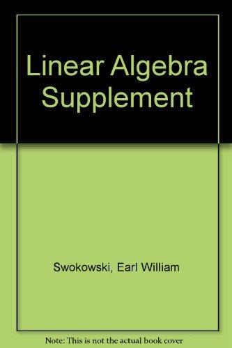 9780871503473: Linear Algebra Supplement