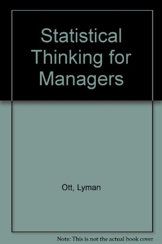9780871504012: Statistical Thinking for Managers