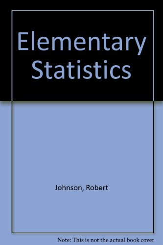 9780871504067: Elementary Statistics