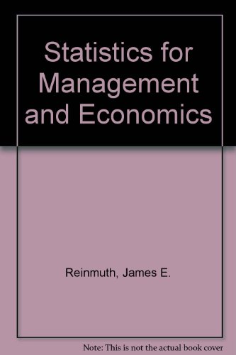9780871504111: Statistics for Management and Economics