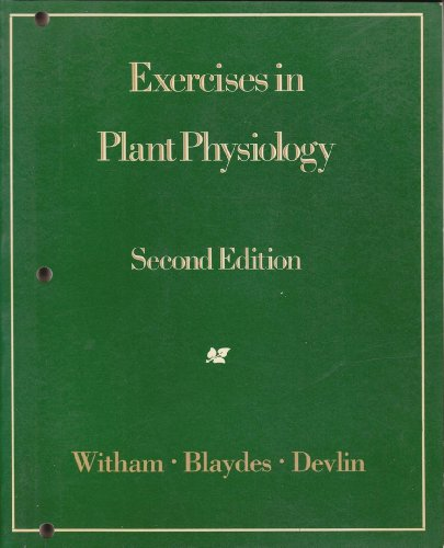 9780871509444: Exercises in Plant Physiology