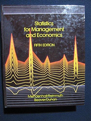 9780871509727: Statistics for Management and Economics
