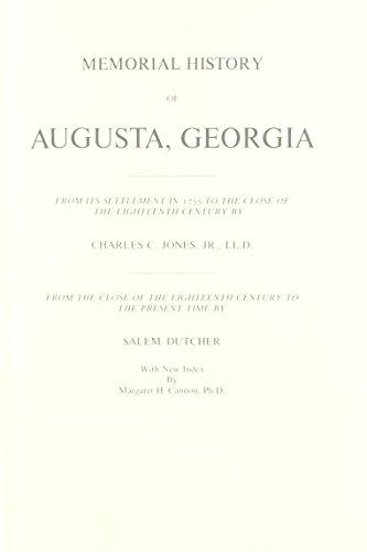 Memorial History of Augusta Georgia: Jones, Charles C.