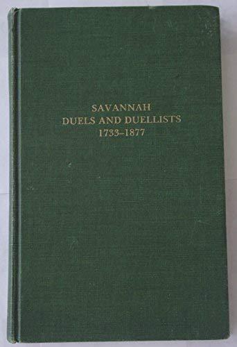 Savannah duels and duellists, 1733-1877: Thomas Gamble