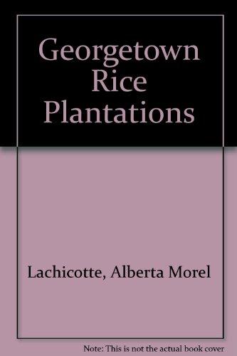 Georgetown Rice Plantations: Lachicotte, Alberta Morel