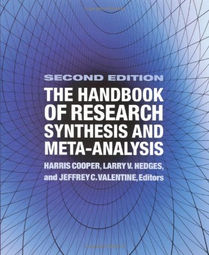 9780871541635: The Handbook of Research Synthesis and Meta-Analysis