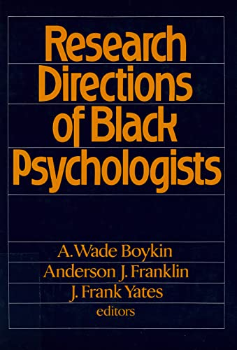 9780871542540: Research Directions of Black Psychologists