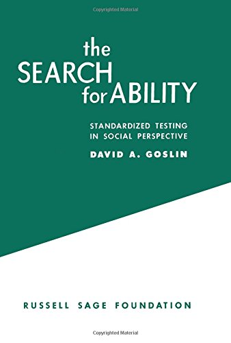 9780871543578: The Search for Ability: Standardized Testing in Social Perspective