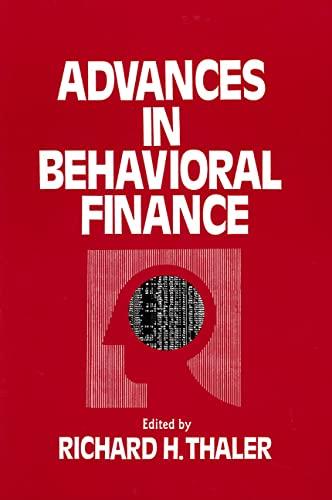 9780871548443: Advances in Behavioral Finance (Roundtable Series in Behavioral Economics)