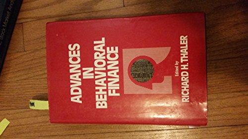 9780871548450: Advances in Behavioral Finance