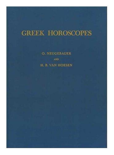 9780871690487: Greek Horoscopes (Memoirs of the American Philosophical Society)