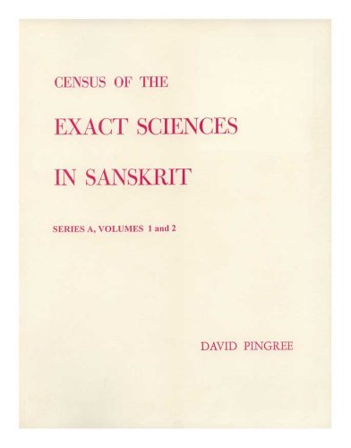 9780871690814: Census of the Exact Sciences in Sanskrit, Series A, Vol. 1