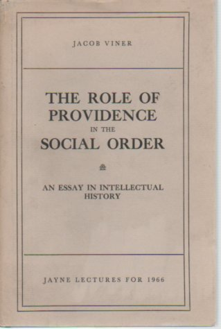 9780871690906: The role of providence in the social order;: An essay in intellectual history (Memoirs of the American Philosophical Society)