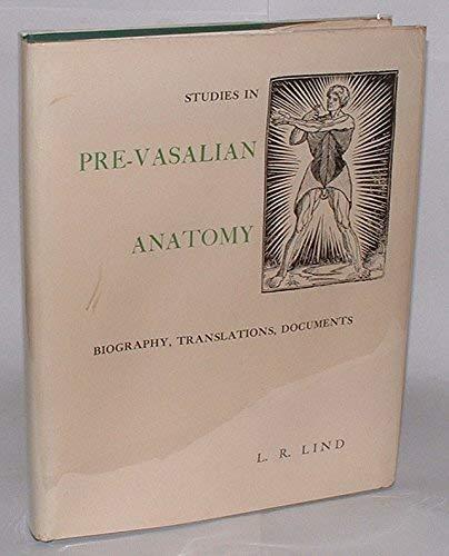 9780871691040: Studies in pre-Vesalian anatomy: Biography, translations, documents (Memoirs of the American Philosophical Society)