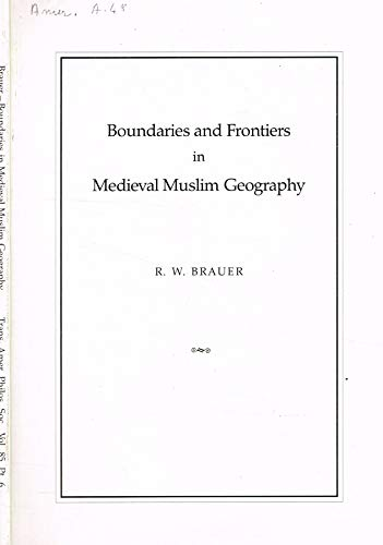 9780871698568: Boundaries and Frontiers in Medieval Muslim Geography