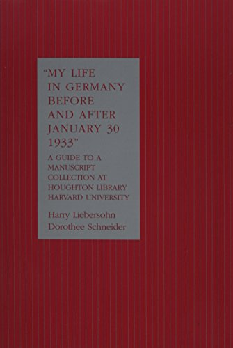 9780871699138: My Life in Germany Before and After January 30, 1933
